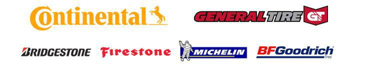 We proudly carry products from Continental, General Tire, Bridgestone, Firestone, Michelin®, and BFGoodrich®.