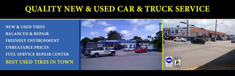 We offer quality new and used car and truck tires!