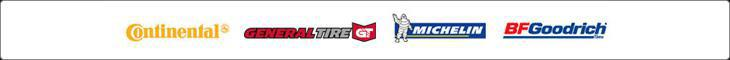 We carry products from Continental, General Tire, Michelin®, and BFGoodrich®.