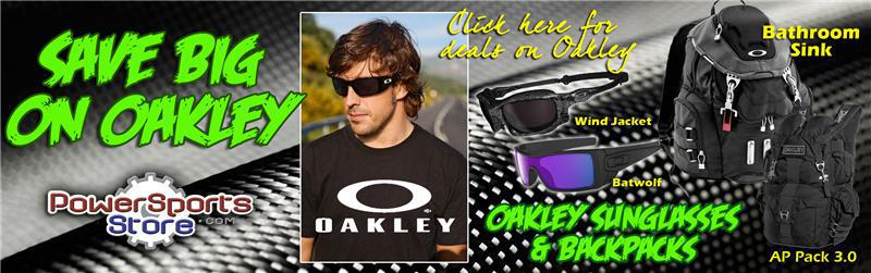 PowerSportsStore has the lowest prices on Oakley sunglasses and backpacks