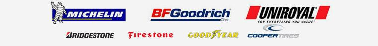 We proudly carry Michelin®, BFGoodrich®, Uniroyal®, Bridgestone, Firestone, Goodyear, and Cooper Tires.