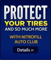 Protect yoru tires and so much more with NitroFill Auto Club. Details »