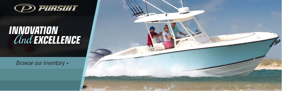 Innovation and Excellence: Click here to view our selection of Pursuit boats.
