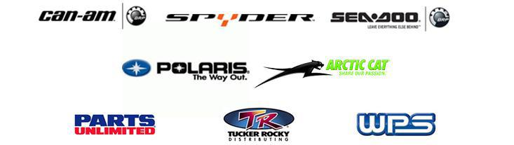 We are proud to feature products from Can-Am, Spyder, Polaris, Arctic Cat, Sea-Doo, Parts Unlimited, Tucker Rocky and Western Power Sports!
