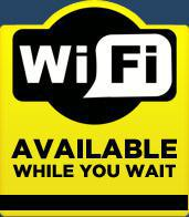 WiFi is available while you wait!