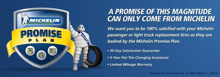 Michelin® Promise Plan - A promise of this magnitude can only come from Michelin®