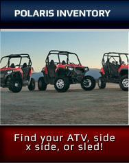 Polaris Inventory: Find your ATV, side x side, or sled!