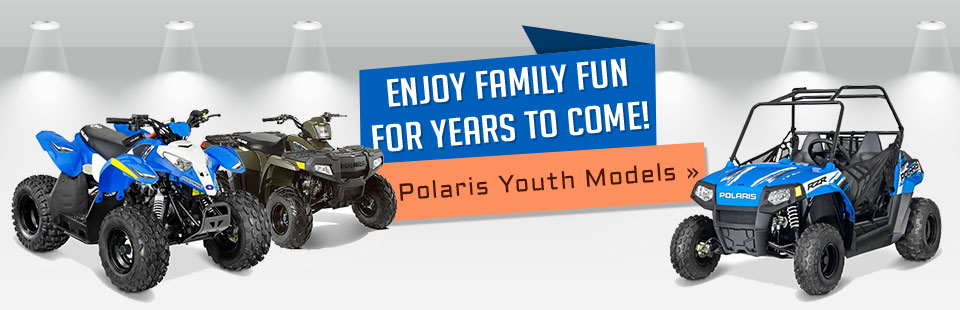 Enjoy family fun for years to come with Polaris youth models! Click here to view our selection.