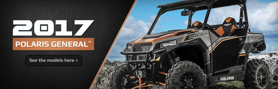 2017 Polaris GENERAL™ Side x Sides: Click here to view the models.