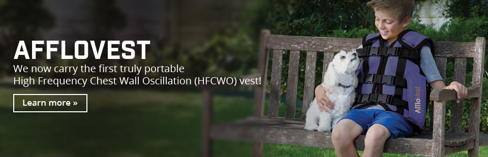 Afflovest: We now carry the first truly portable High Frequency Chest Wall Oscillation (HFCWO) vest!