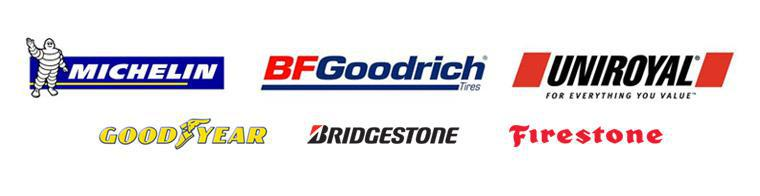 We proudly carry products by Michelin®, BFGoodrich®, Uniroyal®, Goodyear, Bridgestone, and Firestone.