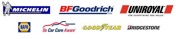 We carry products from Michelin®, BFGoodrich®, Uniroyal®, Goodyear, Bridgestone, and NAPA. Be car care aware!