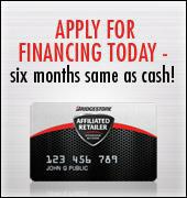 Apply for financing today - six months same as cash!