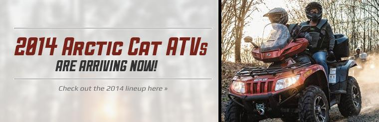 2014 Arctic Cat ATVs are arriving now! Click here to view the lineup.