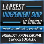 Largest independent shop in Juneau - we're committed to providing friendly, professional service locally.