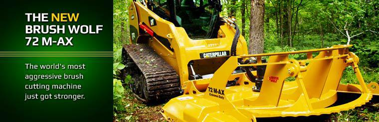 The New Brush Wolf 72 M-AX: The world's most aggressive brush cutting machine just got stronger.