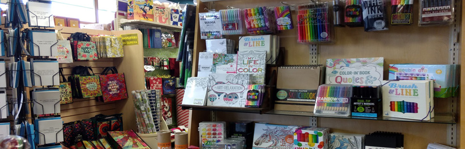 Coloring books and supplies