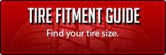 Tire Fitment Guide: Find your tire size.