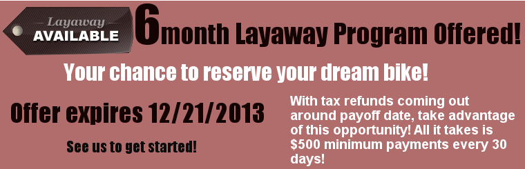6 month Layaway Program