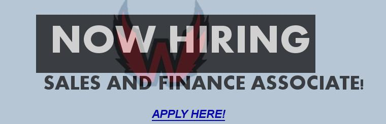 SALES AND FINANCE ASSOCIATE