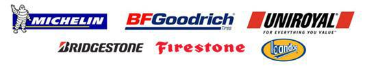 We carry products from We carry products from Michelin®, BFGoodrich®, Uniroyal®, Bridgestone, Firestone, and Bandag.