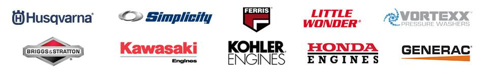 We carry products from Husqvarna, Simplicity, Ferris, Little Wonder, Vortexx Pressure Washers, Briggs & Stratton, Kawasaki Engines, Kohler Engines, Honda Engines, and Generac.