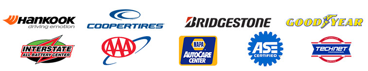 We proudly carry products from Cooper, Bridgestone, Goodyear, Interstate Battery, and NAPA. We are AAA and ASE approved.