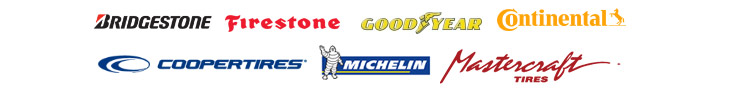 We proudly carry Bridgestone, Firestone, Goodyear, Continental, Cooper, Michelin®, and MasterCraft Tires.