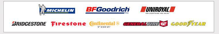 We carry products from Michelin®, BFGoodrich®, Uniroyal®, Bridgestone, Firestone, Continental, General, and Goodyear.