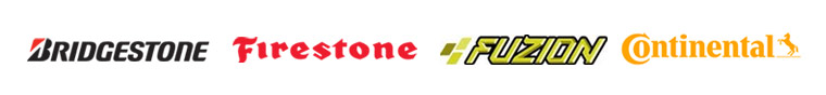 We carry brands from Bridgestone, Firestone, Fuzion, and Continental.