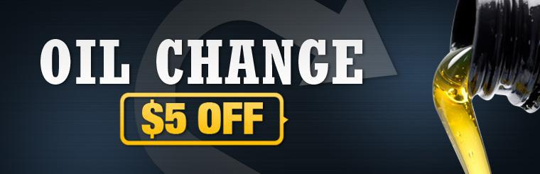Get $5 off an oil change! Click here for the coupon.