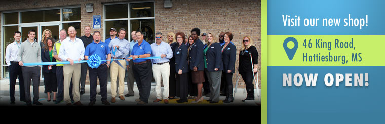 Visit our new shop at 46 King Road in Hattiesburg, MS!