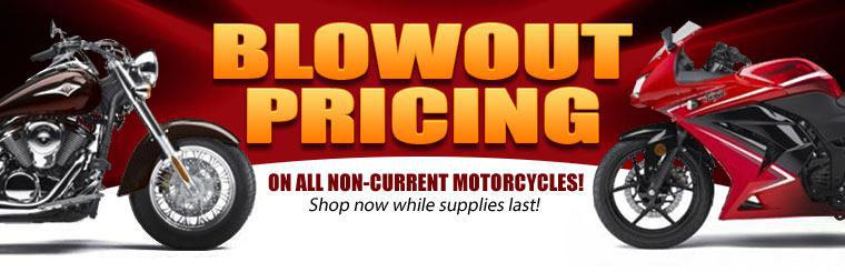 We're offering blowout pricing on all non-current motorcycles! Shop now while supplies last!