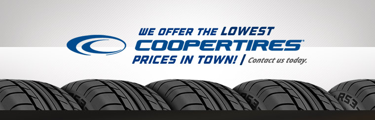 We offer the lowest Cooper Tire prices in town! Click here to contact us.