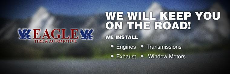 We install engines, transmissions, exhaust, and window motors.