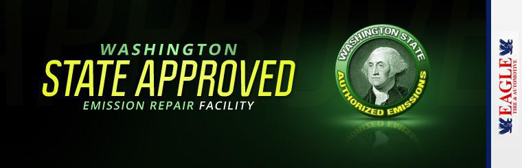 We are a Washington State approved emission repair facility. Click here for more information.