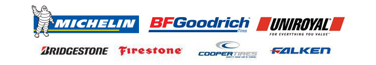 We carry great products from Michelin®, BFGoodrich®, Uniroyal®, Bridgestone, Firestone, Cooper, Falken.