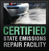 We are a Certified State Emissions Repair Facility