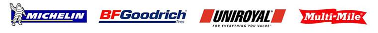 We carry products from Michelin®, BFGoodrich®, Uniroyal®, and Multi-Mile.