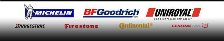 We carry products from Bridgestone, Firestone, Michelin®, BFGoodrich®, Continental, and General.