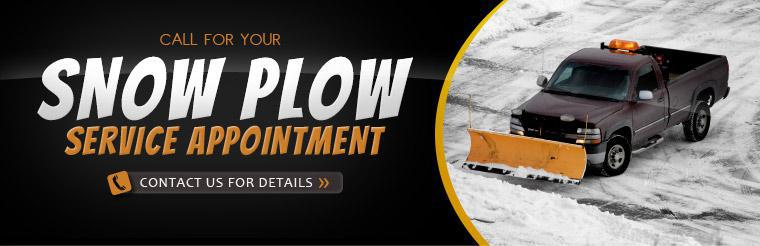 Call for your snow plow service appointment. Click here to contact us for details.