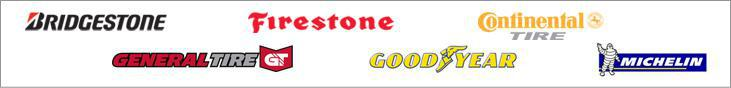 We carry products from Bridgestone, Firestone, Continental, General, Goodyear, and Michelin®.