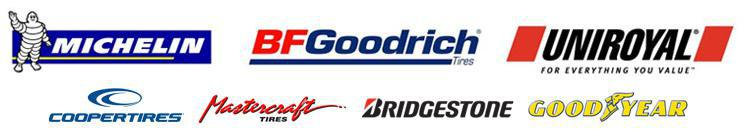We are proud to carry tires from Michelin®, BFGoodrich®, Uniroyal®, Cooper, Mastercraft, Bridgestone, and Goodyear!