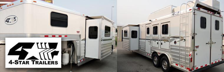 4 Star Custom Horse Auto Race Livestock Living Quarter Trailers