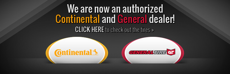 We Are an Authorized Continental and General Dealer