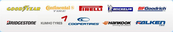 We carry products from Goodyear, Continental, Pirelli, Michelin®, BFGoodrich®, Bridgestone, Kumho, Cooper, Hankook, and Falken.