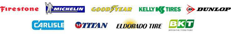 We proudly offer products from Firestone, Michelin®, Goodyear, Kelly, Dunlop, Carlisle, Titan, Eldorado, and BKT.