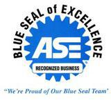 ASE Recognized Business. Blue Seal of Excellence. We're Proud of Our Blue Seal Team!