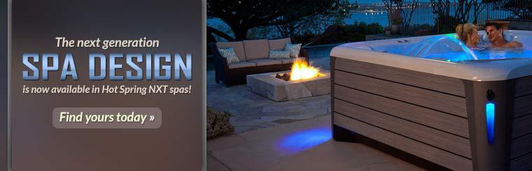 The next generation spa design is now available in Hot Spring NXT spas!