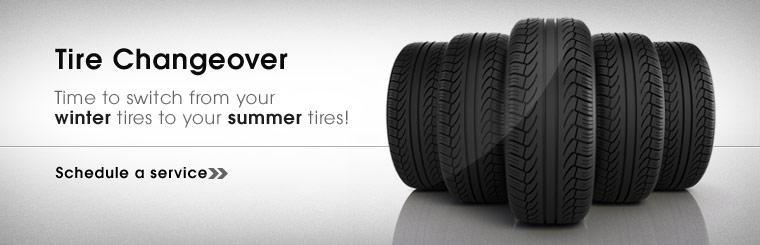 Time to switch from your winter tires to your summer tires!